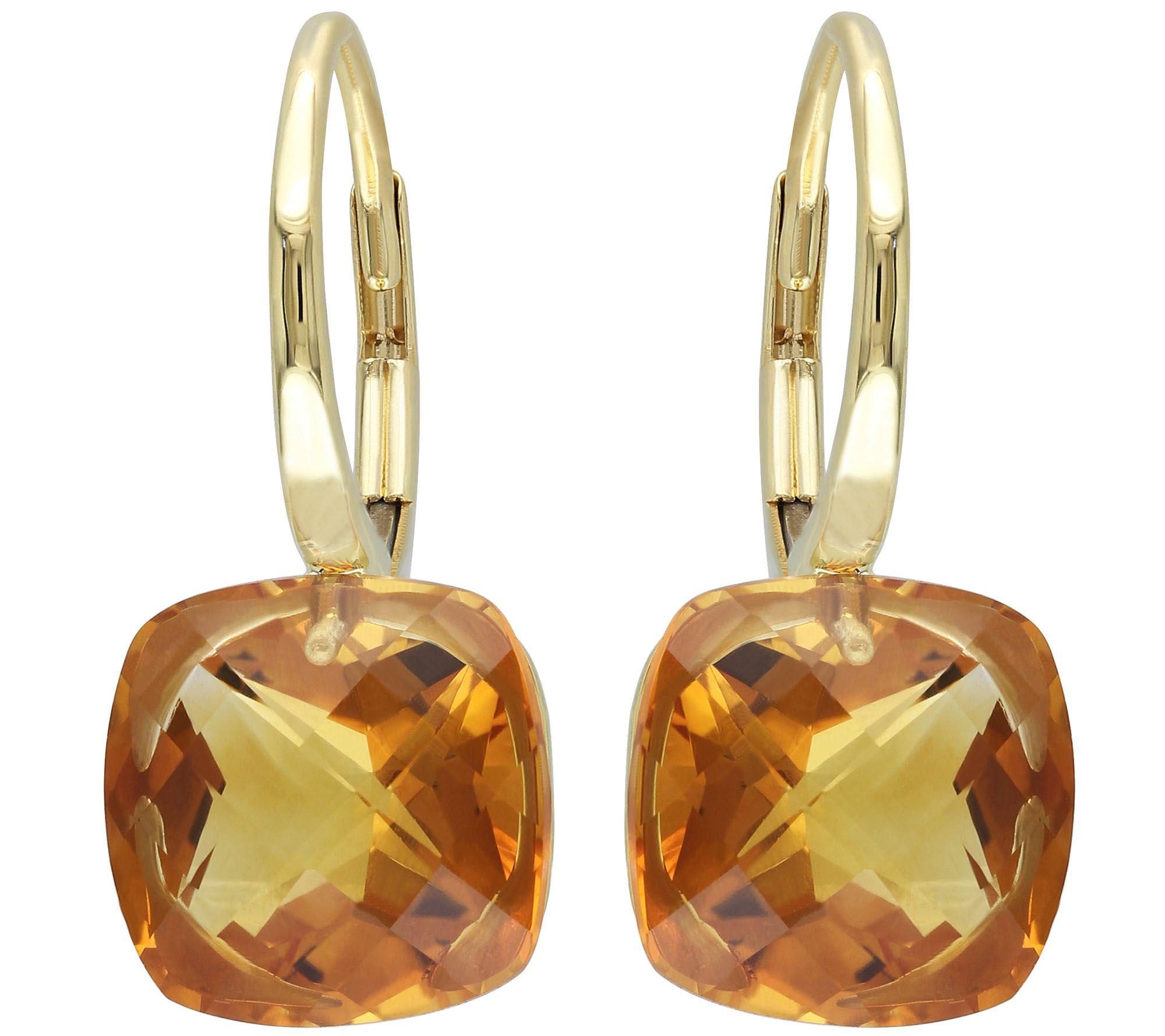 585c0f0dc 8.00 cttw Madeira Citrine Earrings, 14K Gold — QVC.com