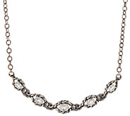 Carolyn Pollack Sterling Silver 7.20cttw White Topaz Necklace - J346559