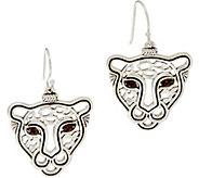JAI Sterling Silver Leopard Drop Earrings - J347359