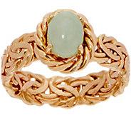 14K Gold Byzantine and Gemstone Ring - J350759