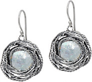 Or Paz Sterling Roman Glass Dangle Earrings - J351659