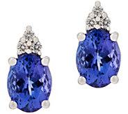 Oval Tanzanite and Diamond Stud Earrings, 14K - J354059