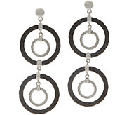 ALOR Cable Stainless Steel Circle Drop Earrings - J354559