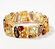 Fall Tone Multicolor Gemstone Bracelet, Sterling Silver - J356659