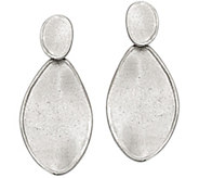 Sterling Oval Wavy Earrings by Silver Style - J375759