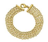 Italian Gold 14K Bold Textured Link Bracelet, 10.9g - J384959