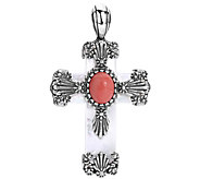 American West Sterling Silver Multi-Gemstone Cross Enhancer - J385259
