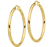 Italian Gold 1-3/4 Polished Round Hoop Earrings, 14K Gold - J385759