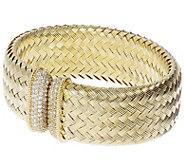 Judith Ripka Verona 14K Gold-Clad Braided Cuff - J387559