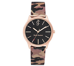 Juicy Women's Couture Camo StrapWatch