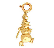 14K Yellow Gold Snowman Charm - J298460