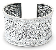 Novica Artisan Crafted Sterling Meadow in Bloom Cuff - J307660