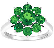 Sterling 2.40 cttw Chrome Diopside Flower Ring - J308560