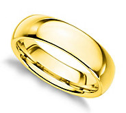 Sterling Silver 5MM Silk Fit Unisex Band Ring,14K Gold Clad - J312260