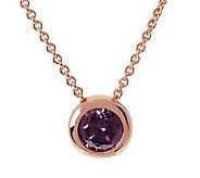 Bronze Crystal Pendant w/18 Chain byBronzo Italia - J314760