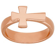 As Is Bronze Polished Horizontal Cross Ring by Bronzo Italia - J329160
