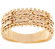 Imperial Gold Mirror Bar Band Ring 14K Gold - J348560
