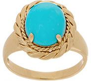 14K Gold and Kingman Turquoise Ring - J353560