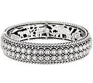 JAI Sterling Silver Kalahari Beaded Bangle, 57.1g - J354960