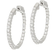 Diamond Hoop Earrings, 14K Gold, 1.75 cttw by Affinity - J355060