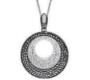 Suspicion Sterling Marcasite & Crystal Pendantw/Chain - J379360
