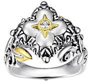 Barbara Bixby Sterling Silver & 18K Flower Ring - J380560
