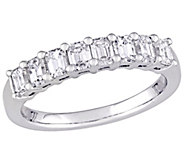 Affinity 14K 9/10 cttw Emerald-cut Diamond 8-Stone Band Ring - J381360
