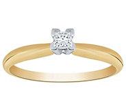 Affinity 14K 1/10 cttw Princess-Cut Solitaire Diamond Ring - J383560
