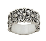Sterling Artisan Crafted Filigree Band Ring - J390760