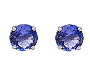 14K White Gold 0.80 cttw Tanzanite Earrings - J392160