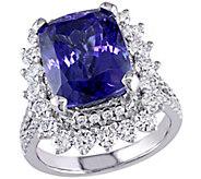 14K 4.85 cttw Tanzanite & 1.70 cttw Diamond Cocktail Ring - J392360