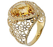 Arte d Oro Faceted Pear Gemstone Ring, 18K Gold - J392560