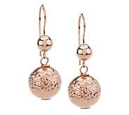 EternaGold Crystal-Cut Bead Earrings w/ SecuraClasp, 14K - J393460