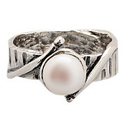 Or Paz Sterling 7.0mm White Cultured Freshwater Pearl Ring - J303861