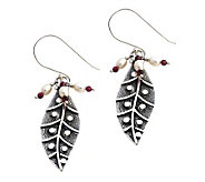 Novica Artisan Crafted Sterling Dew Leaf Earrings - J304061
