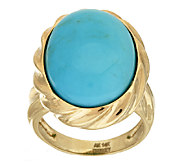 As Is 14K Gold Bold Sleeping Beauty Turquoise Ring - J325061