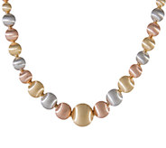 Arte dOro 18 Graduated Satin Bead Necklace, 18K   51.90g - J336561