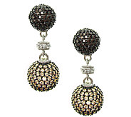 Judith Ripka Sterling Pave Multi Diamonique Drop Earrings - J337961