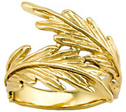 Hagit Sterling and 14K Clad Feather Ring - J341861