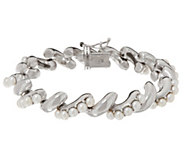 Honora Cultured Pearl Sterling San Marco Bracelet - J347761