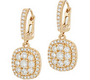Judith Ripka 14K Gold 1.05 cttw Pave Diamond Earrings - J348261