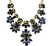 LOGO Links Midnight Clusters Statement Necklace - J350461