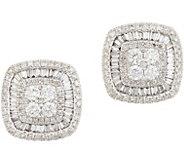 Affinity Diamond 14K Gold Cushion Stud Earrings, 1.00 cttw - J359561