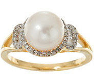 As Is Honora Cultured Pearl & Diamond Ring 14K Gold - J359961