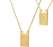Stainless Steel Double Sided Religious Necklace - J375061