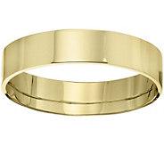 Mens 18K Yellow Gold 5mm Flat Comfort Fit Wedding Band - J375361