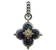 Barbara Bixby Sterling & 18K Gold Lapis FlowerPendant - J384261
