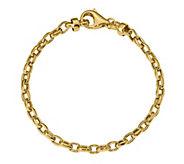 14K Gold Oval Curb Link Bracelet, 6.6g - J384961