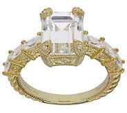 Judith Ripka 14K Clad 7-Stone 3.50 cttw Diamonique Ring - J385361