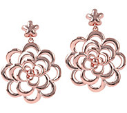 Bronzo Italia Polished Flower Dangle Earrings - J385961